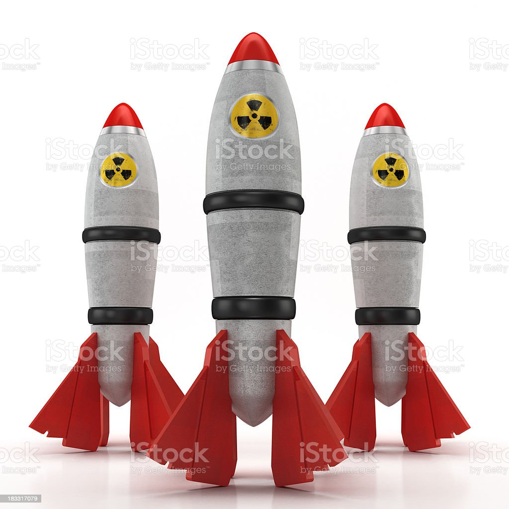 Nuclear missiles royalty-free stock photo
