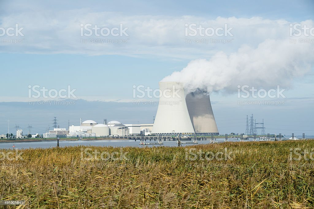 Nuclear plant royalty-free stock photo