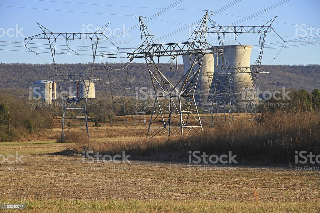 Nuclear Plant stock photo
