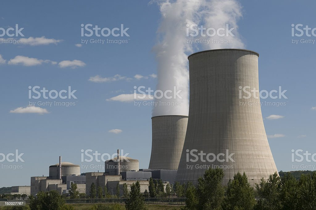 Nuclear power in France stock photo