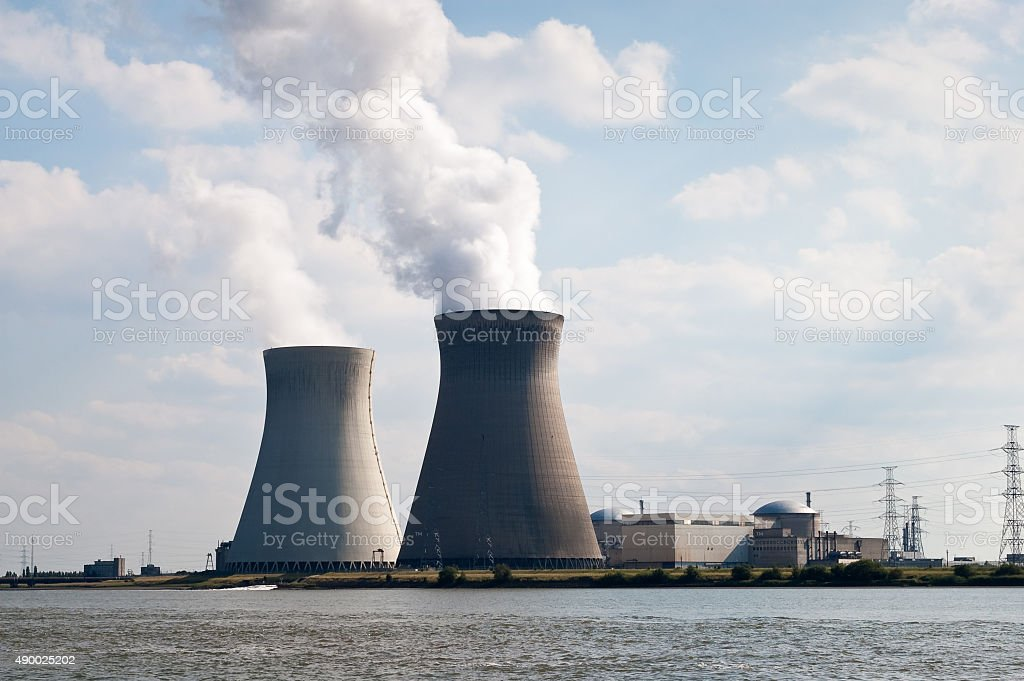 Nuclear power plant, Belgium stock photo
