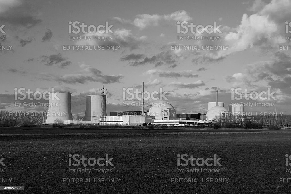 Nuclear power plant Biblis C in the southwest of Germany royalty-free stock photo