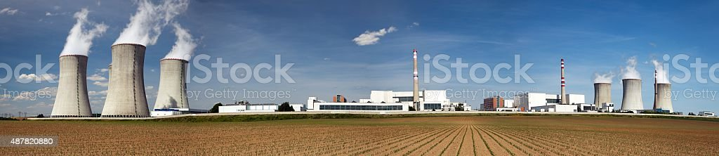 Nuclear power plant Dukovany - Czech Republic stock photo