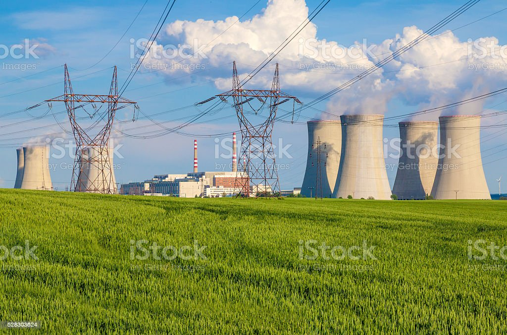 Nuclear power plant Dukovany in Czech Republic Europe stock photo