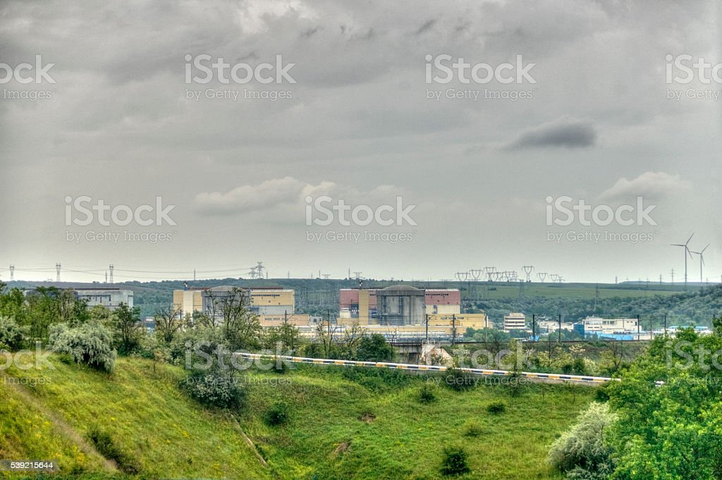 Nuclear Power Plant - HDR Image stock photo