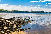 Nuclear power plant on the coast
