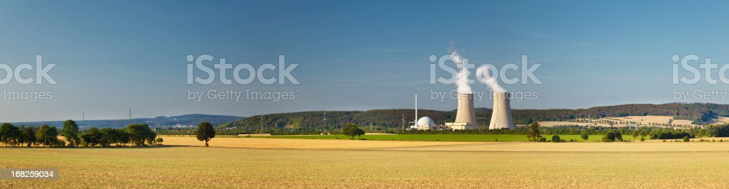 Nuclear Power Plant Panorama stock photo