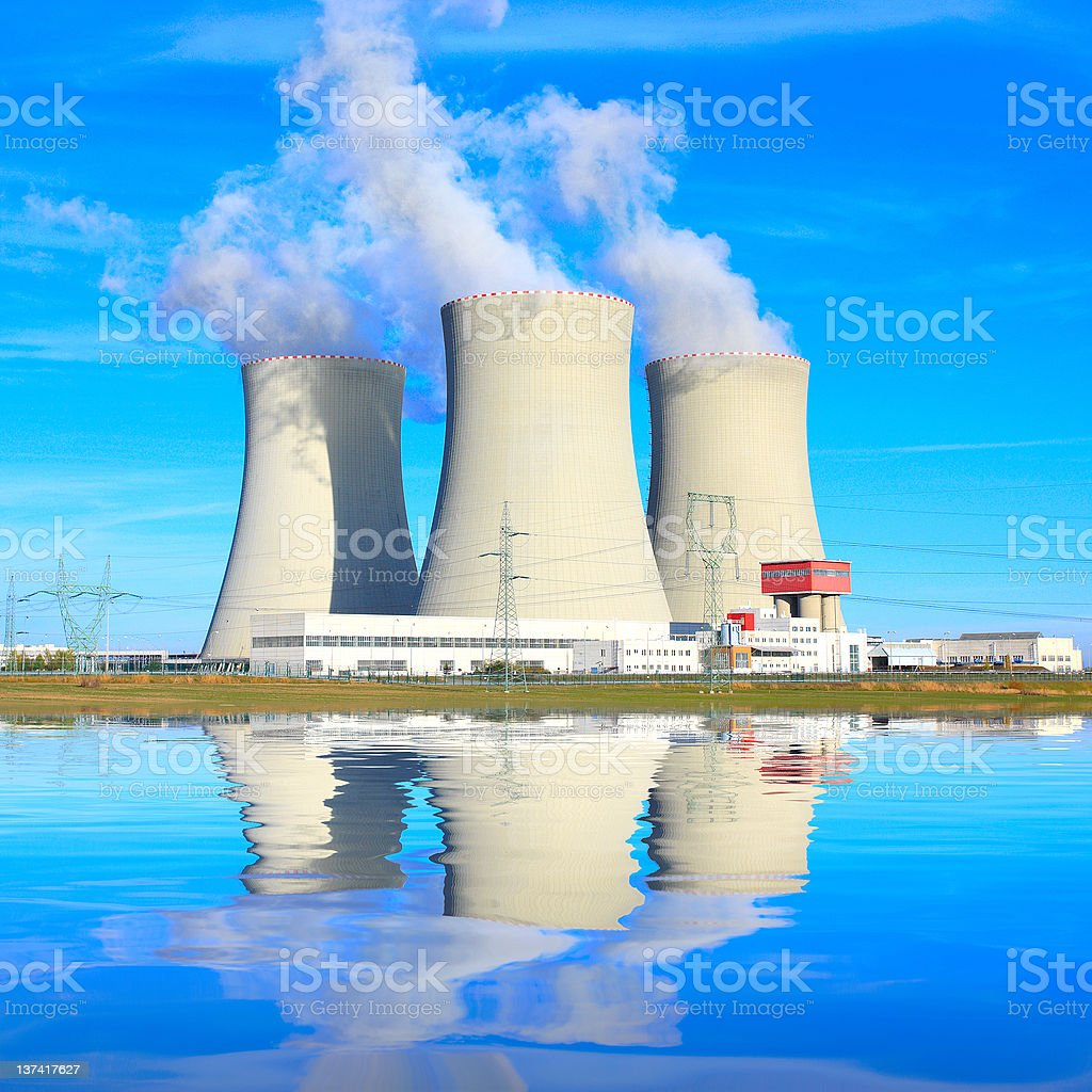 Nuclear power plant. royalty-free stock photo