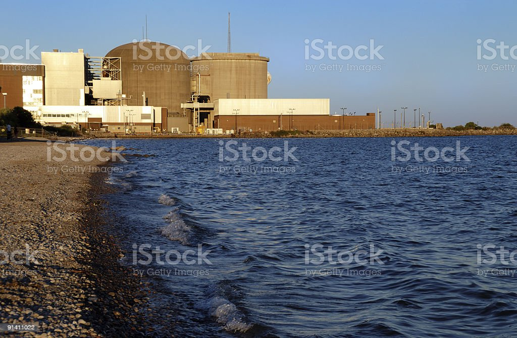 Nuclear Power Plant stock photo