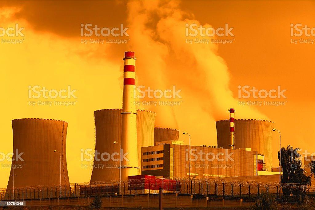 Nuclear power plant Temelin in Czech Republic Europe stock photo