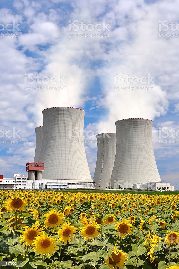 Nuclear power plant Temelin royalty-free stock photo