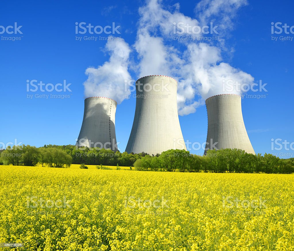 Nuclear power plant Temelin stock photo