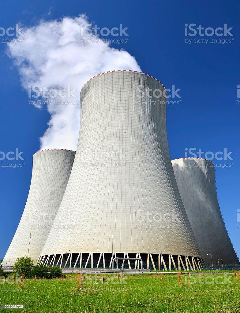Nuclear power plant Temelin stock photo
