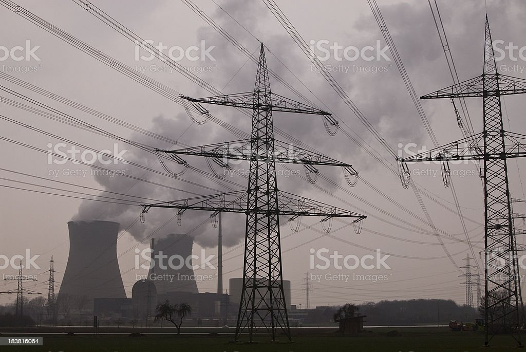 Nuclear Power Station Germany stock photo