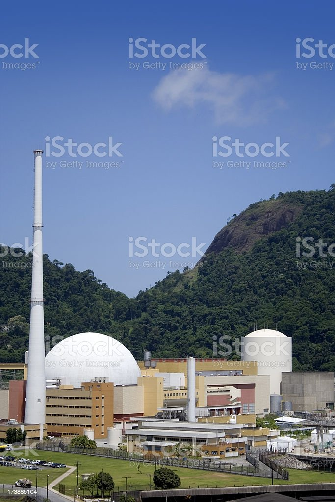 Nuclear Power Station in Brazil royalty-free stock photo