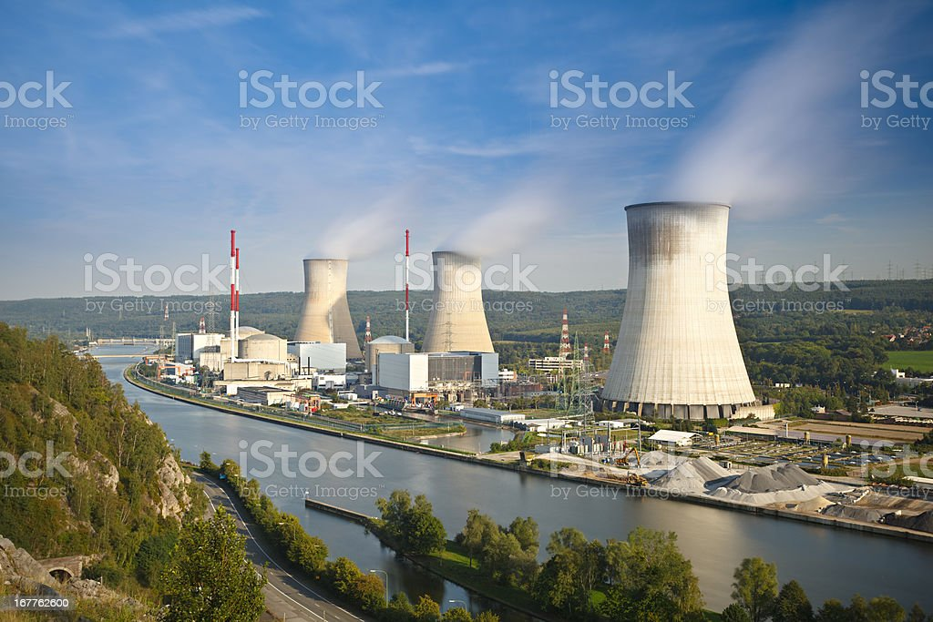 Nuclear Power Station Long Exposure stock photo