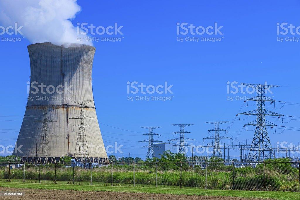 Nuclear Power Station, Ohio stock photo