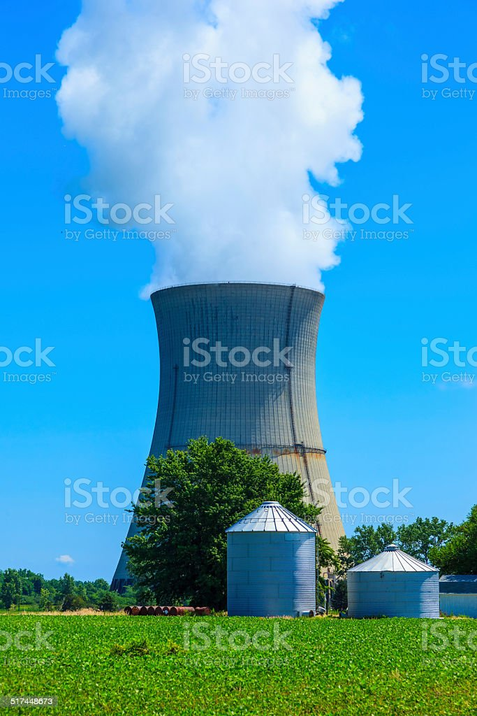 Nuclear Power Station, Ohio stock photo