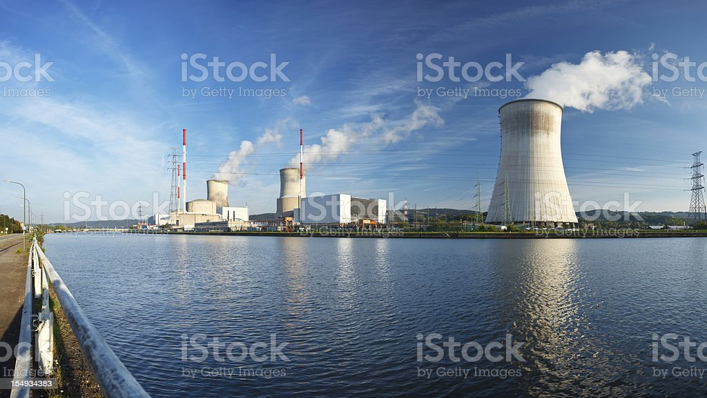 Nuclear Power Station Panorama stock photo