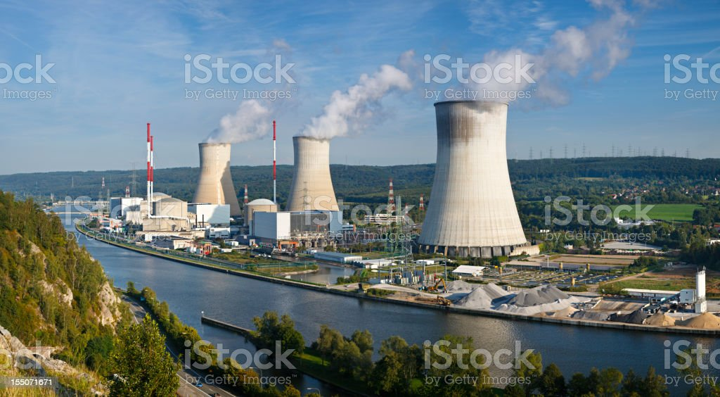 Nuclear Power Station Panorama royalty-free stock photo