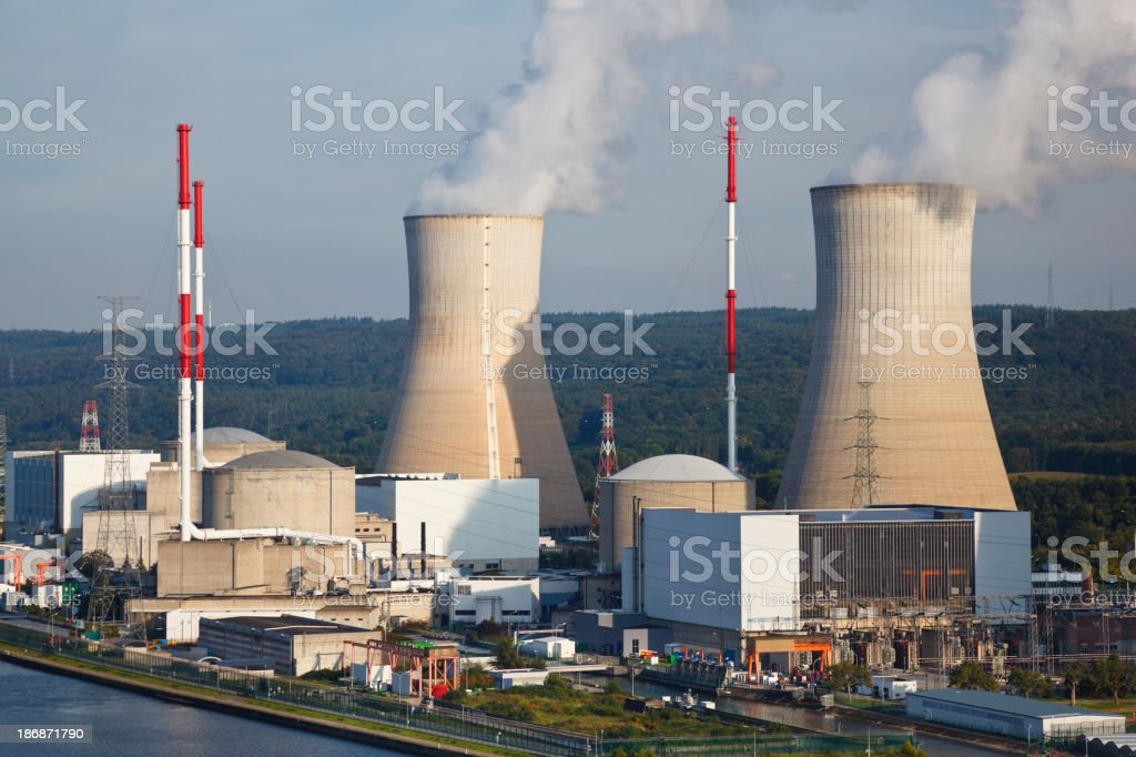 Nuclear Power Station royalty-free stock photo