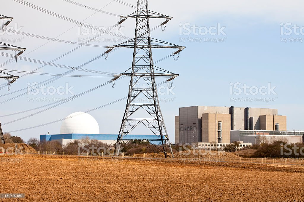 nuclear power station supplying electricity royalty-free stock photo