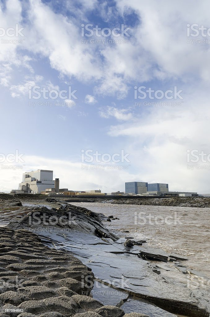 Nuclear power stations, Hinkley Point, Somerset stock photo