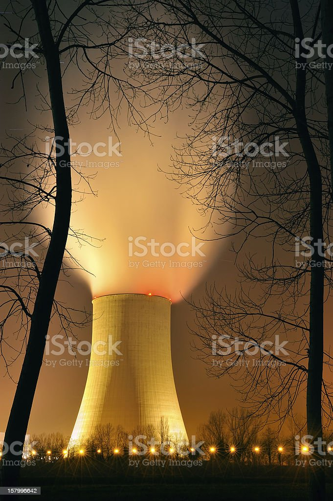 nuclear power three stock photo