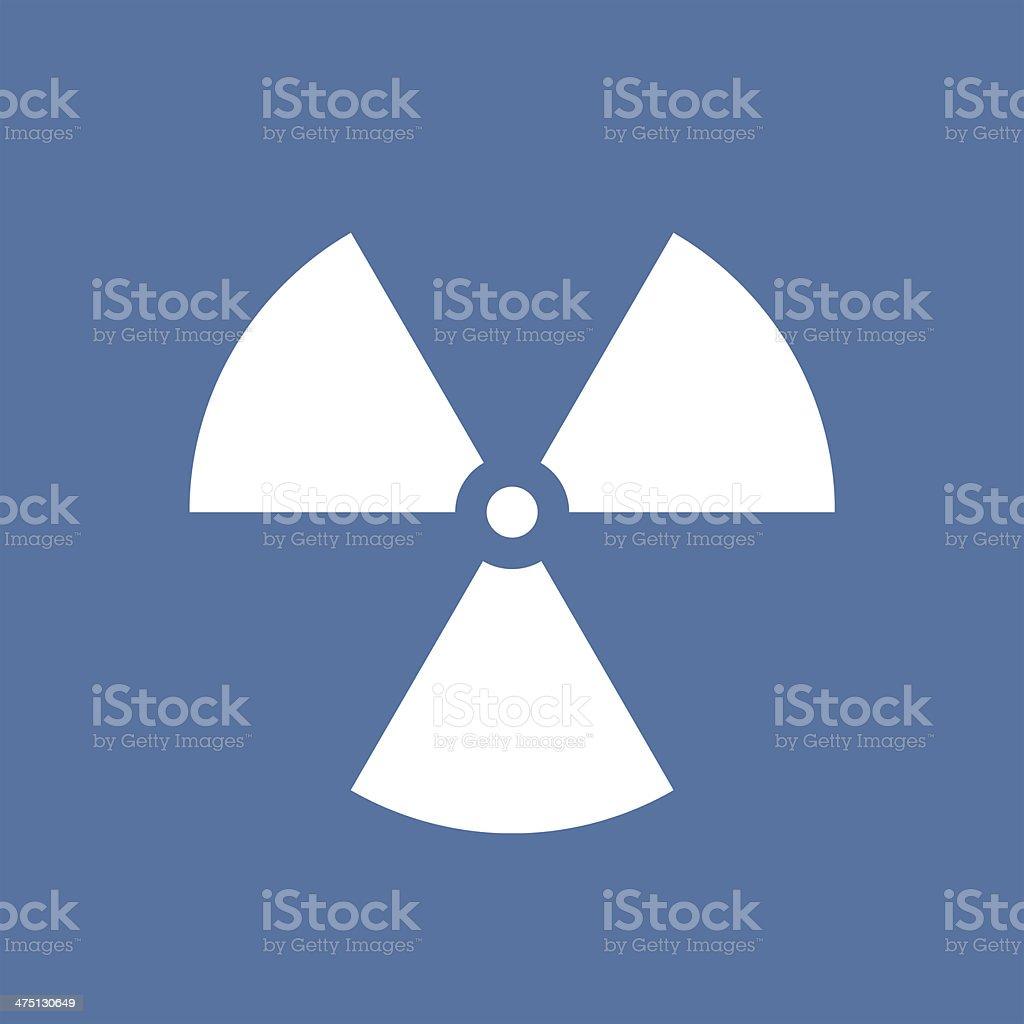 Nuclear radiation symbol stock photo