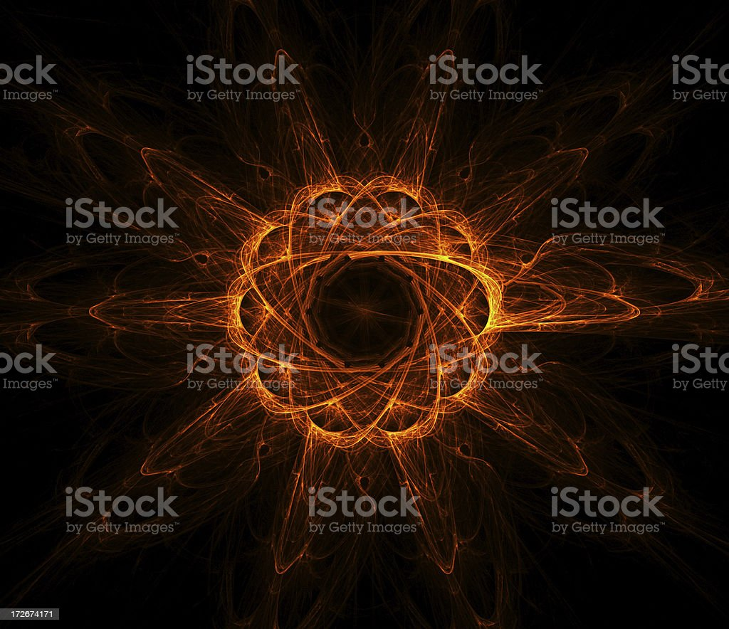 Nuclear reaction stock photo