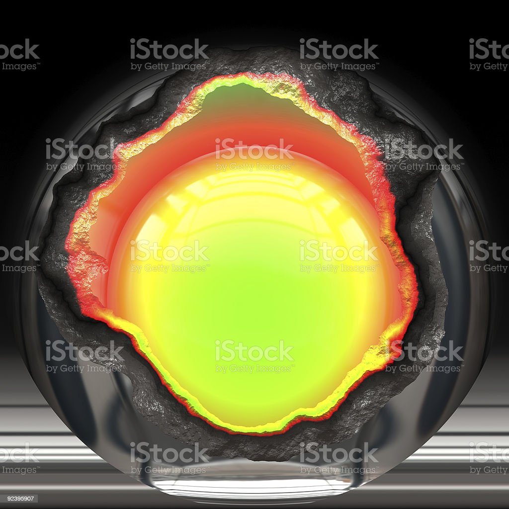Nuclear reactor core royalty-free stock photo