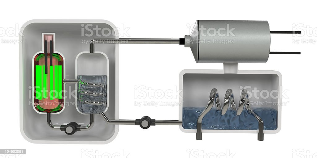 Nuclear Reactor Diagram stock photo