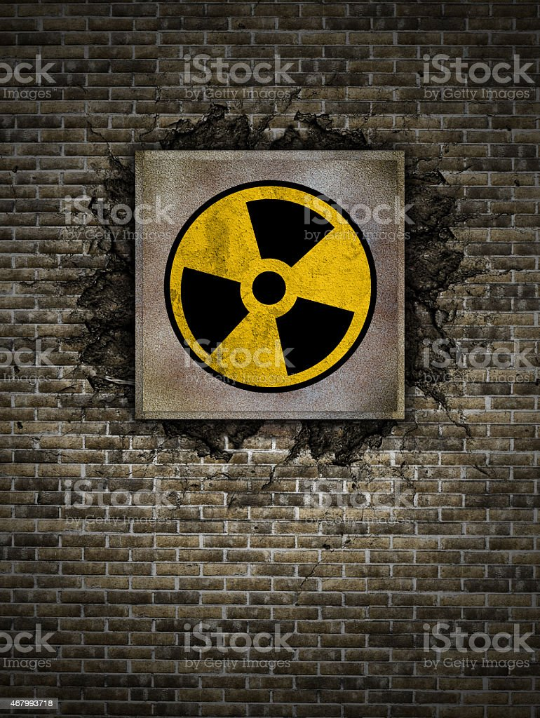 nuclear symbol stock photo