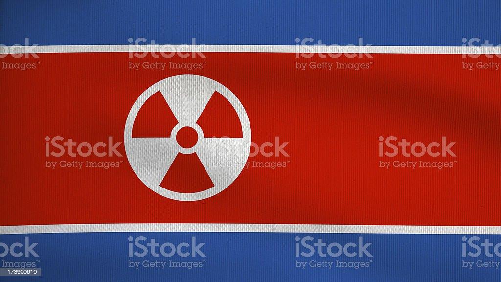 nuclear variation of   North Korea flag stock photo