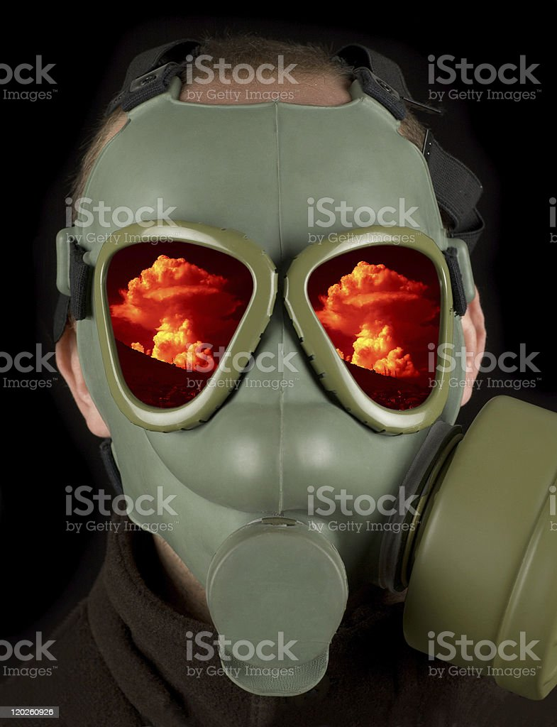 Nuclear war royalty-free stock photo