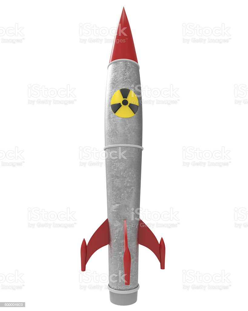 nuclear warhead with clipping mask stock photo