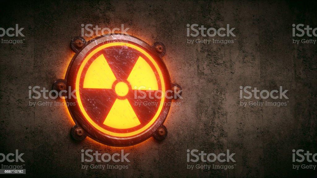 Nuclear Warning Design stock photo