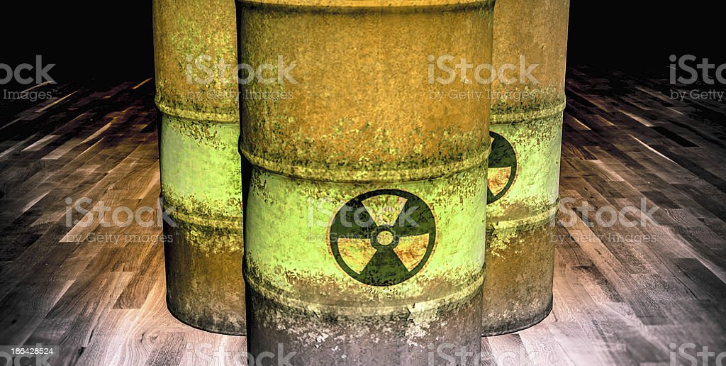 Nuclear Waste Barrels royalty-free stock photo