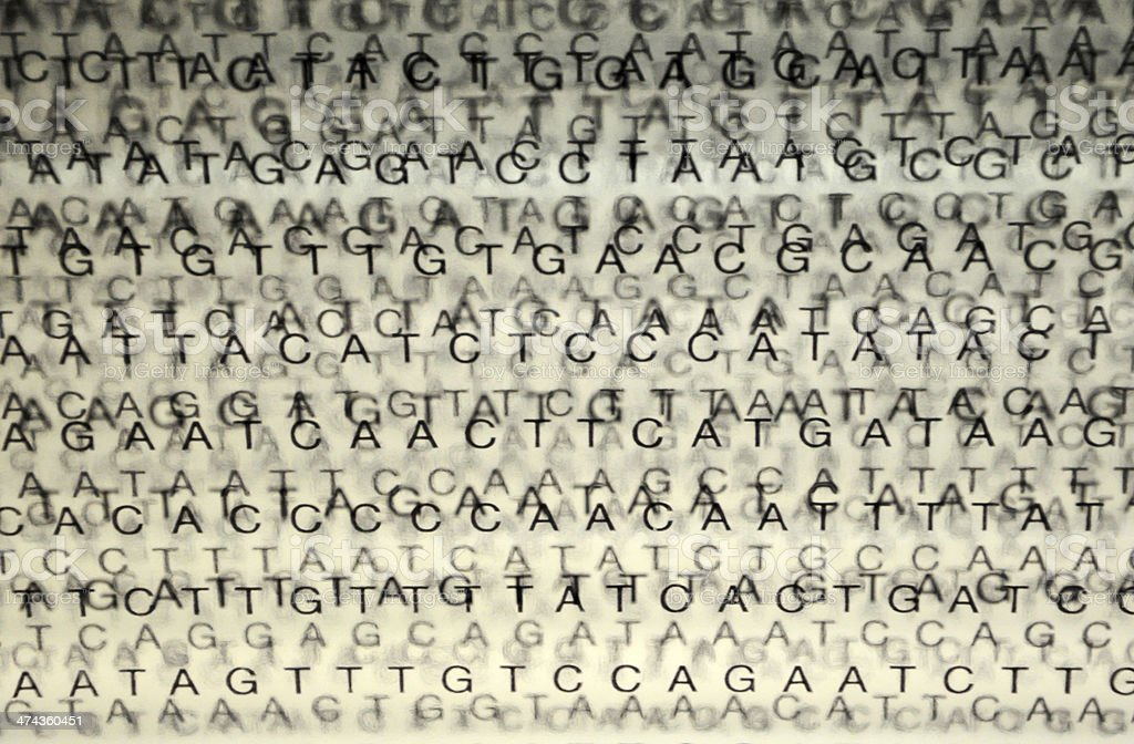 DNA Nucleotide Sequence royalty-free stock photo