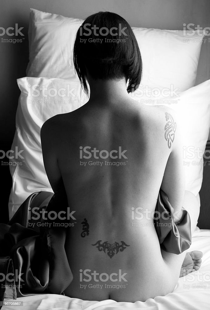 Nude adult woman royalty-free stock photo