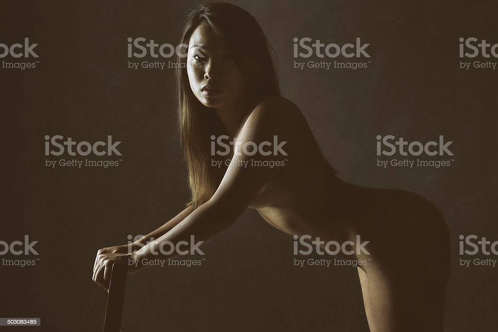 Nude Asian Woman Portrait royalty-free stock photo