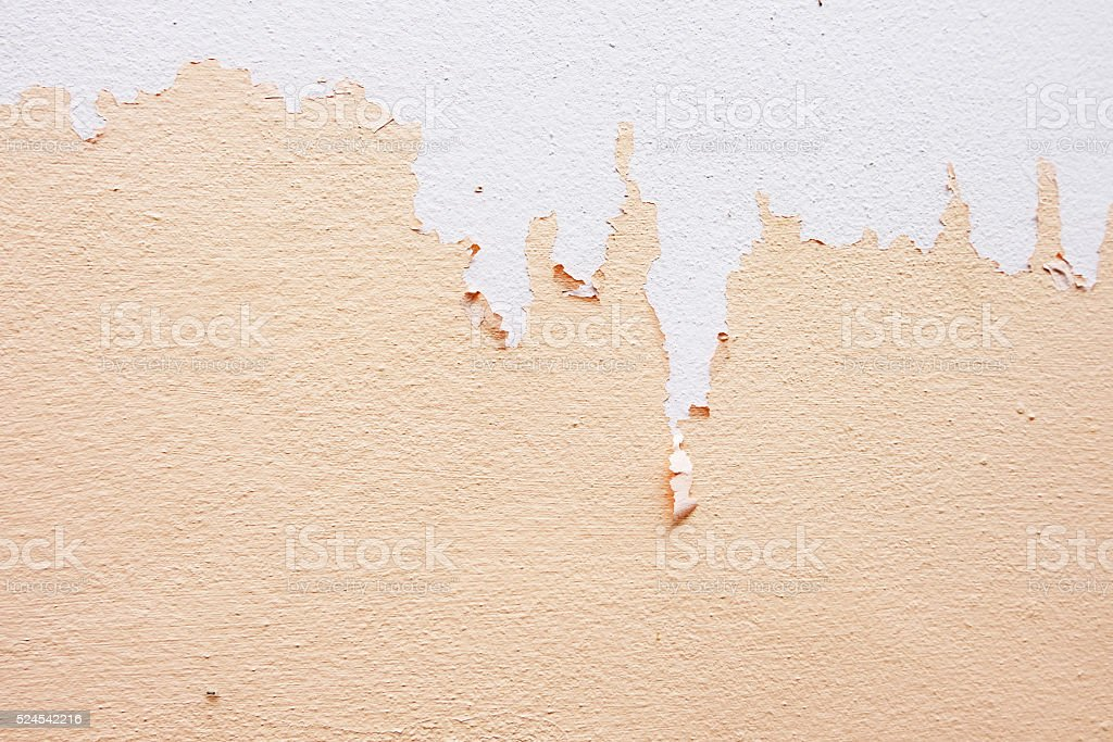 Nude color paint is peeling off stock photo