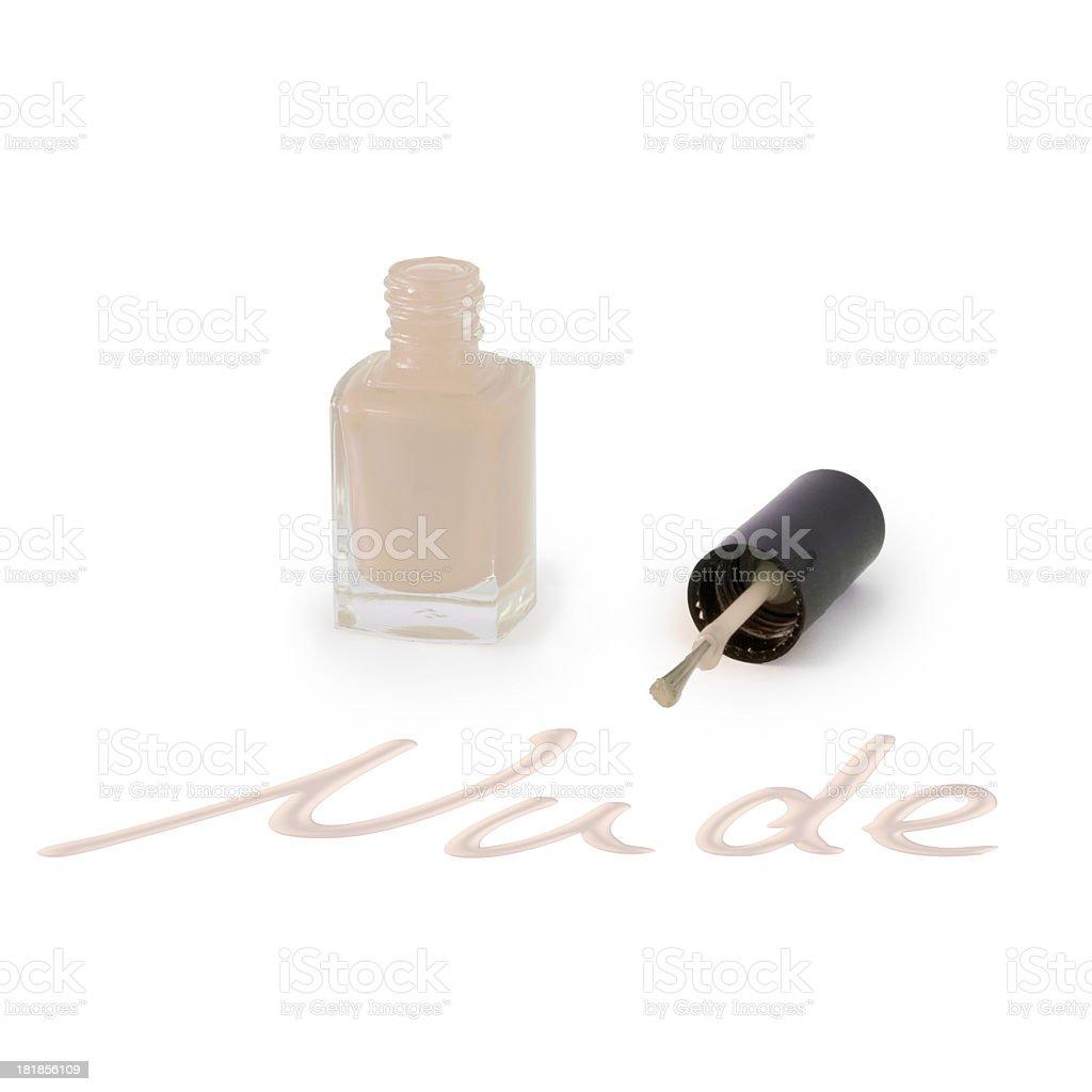 Nude Colored Nail Polish stock photo