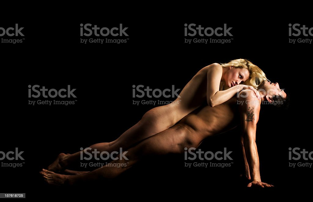 Nude Couple of Auguste Rodin royalty-free stock photo