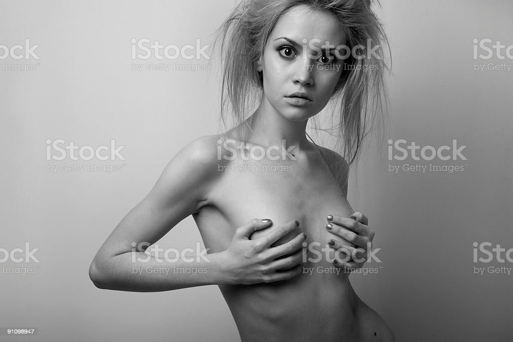 Nude elegant girl. royalty-free stock photo