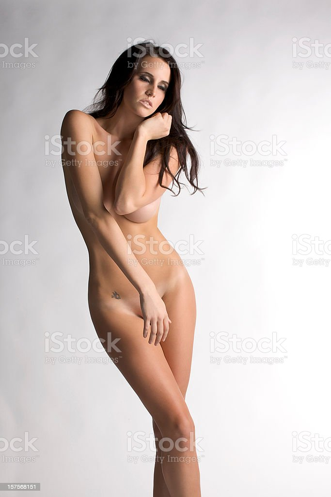 Nude Girl Posing royalty-free stock photo