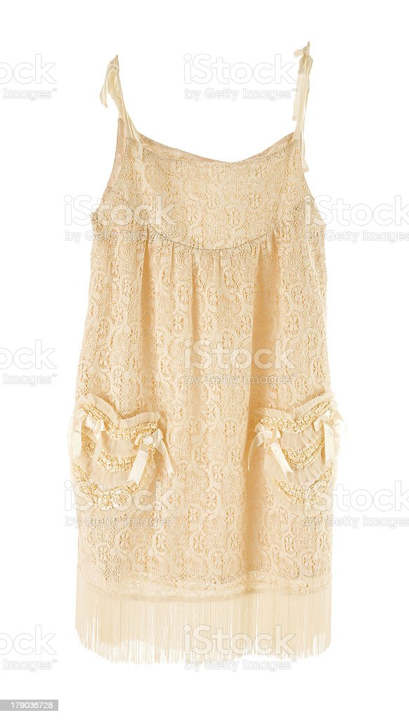 Nude lace nightgown royalty-free stock photo