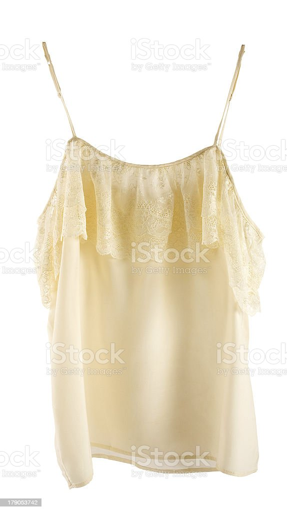 Nude lace silk nightgown royalty-free stock photo