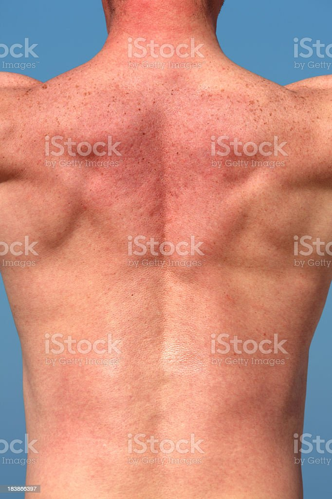 nude male back royalty-free stock photo