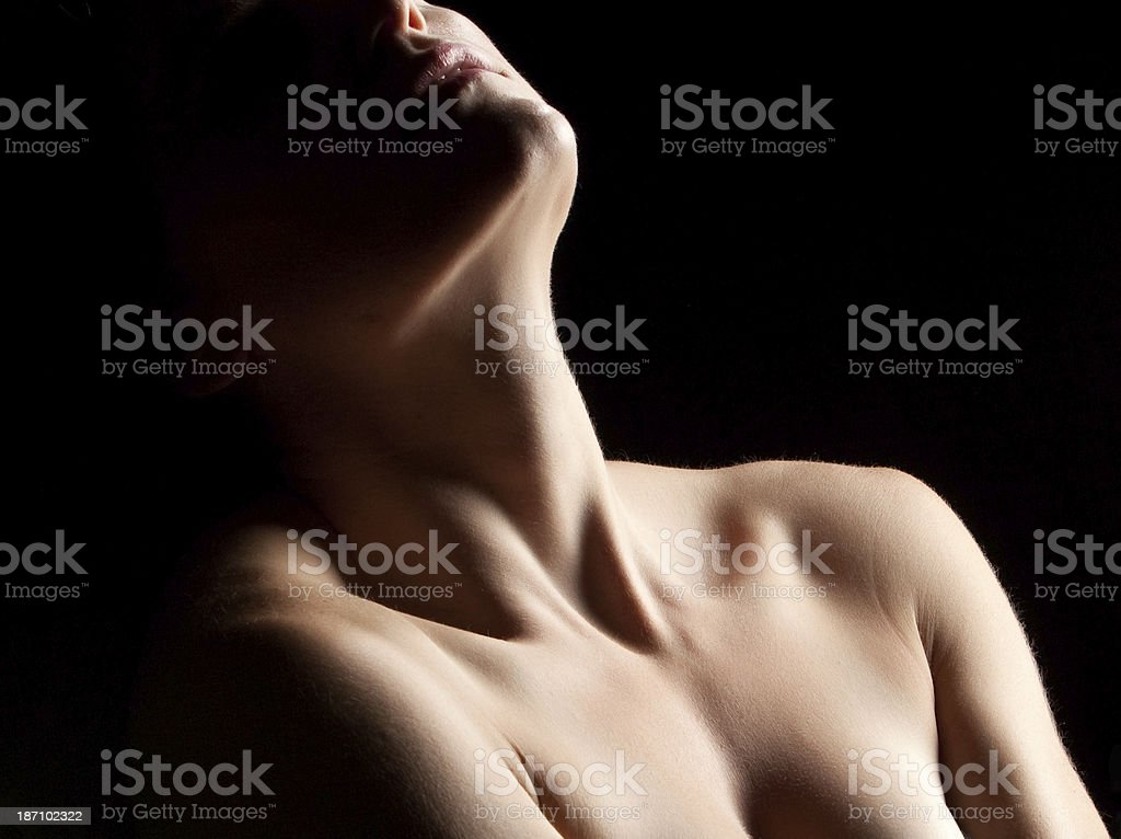Nude Neck and Shoulders royalty-free stock photo